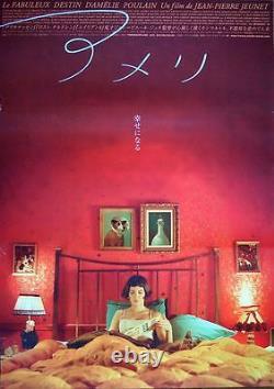AMELIE POULAIN Japanese B2 movie poster AUDREY TAUTOU 2001 NM