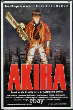 Akira 1989 Original 27x41 Movie Poster 1st Release Japanese Anime Mitsuo Iwata