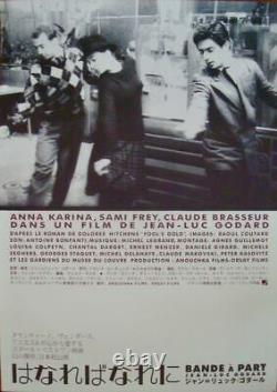 BAND OF OUTSIDERS BANDE A PART Japanese B1 movie poster R01 GODARD KARINA NM