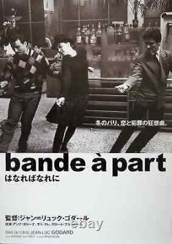 BAND OF OUTSIDERS BANDE A PART Japanese B2 movie poster R17 GODARD KARINA NM