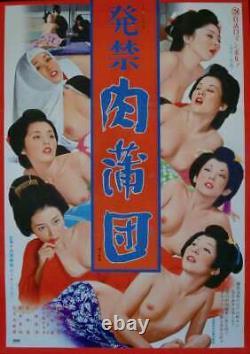 BANNED BOOK FLESH FUTON Japanese B2 movie poster TERI AZUMA 1974 PINKY NM