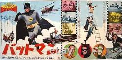 BATMAN THE MOVIE (1966) Japanese press movie poster 10x20 ADAM WEST RARE NM