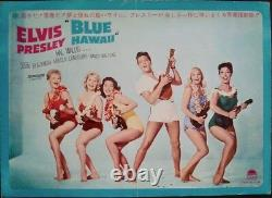 BLUE HAWAII ELVIS PRESLEY Japanese B4 movie poster 10x29 1961 original rare