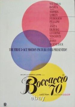 BOCCACCIO 70 Japanese press movie poster FELLINI LOREN EKBERG ROMY SCHNEIDER NM