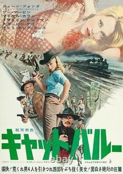 CAT BALLOU Japanese B2 movie poster JANE FONDA LEE MARVIN 1965 RARE NM