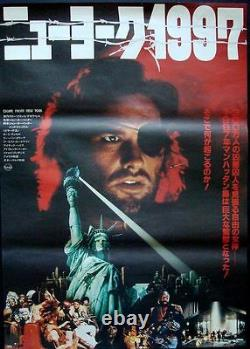 ESCAPE FROM NEW YORK Japanese B2 movie poster A JOHN CARPENTER SNAKE PLISSKEN