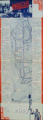 ESCAPE FROM NEW YORK Japanese press movie poster JOHN CARPENTER KURT RUSSELL