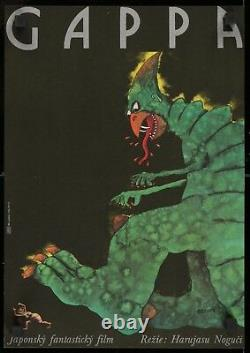 GAPPA great original Czech poster Japanese monster movie Godzilla FilmArtGallery