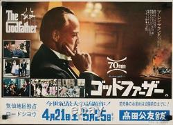 GODFATHER Part 1 Japanese B3 movie poster 70MM COPPOLA BRANDO PACINO DUVALL