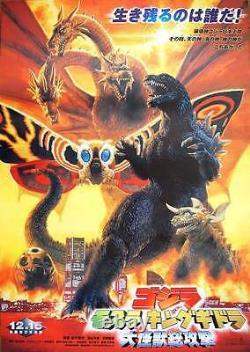 GODZILLA MOTHRA AND KING GHIDORA Japanese B2 movie poster 2001 NM