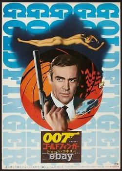 GOLDFINGER JAMES BOND Japanese B2 movie poster R71 SEAN CONNERY NEAR MINT