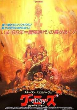 GOONIES Japanese B2 movie poster A NORIYOSHI OHRAI Art 1985 NM VERY RARE