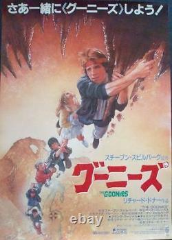 GOONIES Japanese B2 movie poster B DREW STRUZAN Art 1985 NM RARE