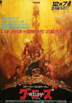 GOONIES Japanese B2 teaser movie poster NORIYOSHI OHRAI Art 1985 NM VERY RARE