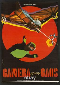 Gamera vs. Giger 1971 Large Original Czech film poster Japanese rubber monster