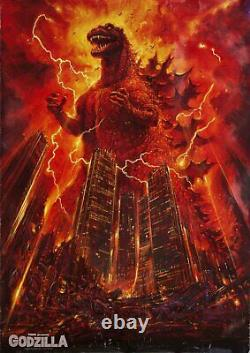 Godzilla 1985 The Legend Is Reborn 1984 Japanese B1 Poster