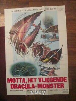 Godzilla Vs The Sea Monster -Original Japanese Movie Poster Toho