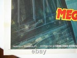 Godzilla vs Megalon original US 1-sheet movie poster famous Japanese monsters