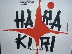 HARAKIRI / Cuban Silkscreen Poster for Famed Japanese Movie CUBA ART BY REBOIRO