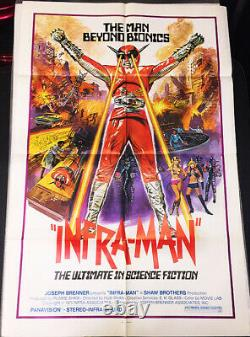 Infra-man!'75 Japanese Sci-fi Cult Classic Original U. S. Os Film Poster