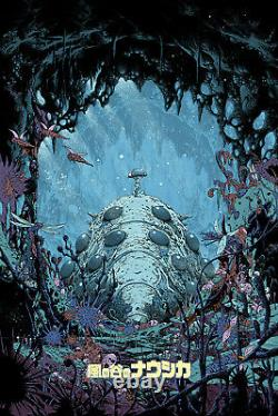 Kilian Eng NAUSICAA OF THE VALLEY WIND Screen Print Poster Variant /60 Japanese