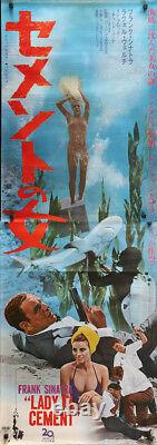 LADY IN CEMENT Japanese STB movie poster 20x57 FRANK SINATRA RAQUEL WELCH 1968