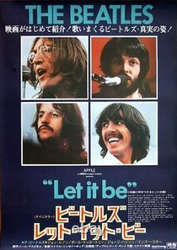 LET IT BE THE BEATLES Japanese B2 movie poster VINTAGE RARE 1970 NM