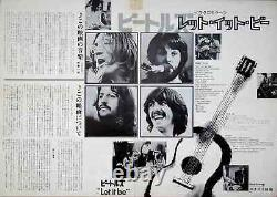 LET IT BE THE BEATLES Japanese B3 press movie poster VINTAGE RARE 1970