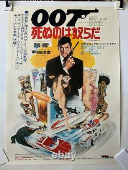 LIVE AND LET DIE Original Japanese B2 Movie Poster James Bond 007 Roger Moore
