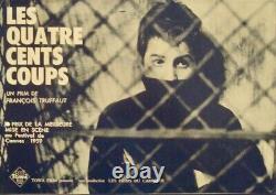 Les 400 COUPS 400 BLOWS Japanese press movie poster FRANCOIS TRUFFAUT RARE 1959