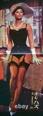 MILLIONAIRESS Japanese B4 movie poster SOPHIA LOREN PETER SELLERS 1960 NM