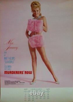 MURDERERS ROW Japanese calendar 1966 MATT HELM DEAN MARTIN 16X24 VERY RARE