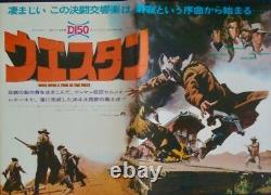 ONCE UPON A TIME IN THE WEST Japanese B3 movie poster LEONE CARDINALE FONDA 1968
