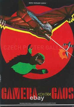 Original Gamera vs. Gaos Czech, Film Movie Poster Japanese Rubber Monsters