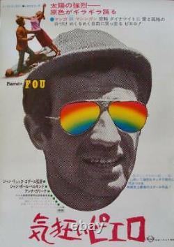 PIERROT LE FOU Japanese B2 movie poster GODARD JEAN-PAUL BELMONDO ANNA KARINA