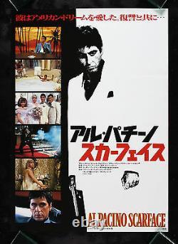 SCARFACE CineMasterpieces JAPANESE ORIGINAL MOVIE POSTER 1983 CRIME GANG