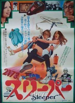 SLEEPER Japanese B2 movie poster WOODY ALLEN DIANE KEATON 1973 ROBERT McGINNIS