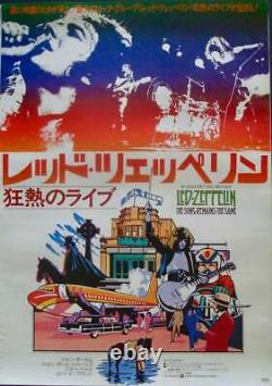 SONG REMAINS THE SAME Japanese B2 movie poster LED ZEPPELIN 1976 NM