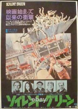SOYLENT GREEN Japanese B2 movie poster CHARLTON HESTON 1973 NM