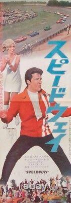 SPEEDWAY Japanese STB movie poster 20x57 ELVIS PRESLEY NANCY SINATRA 1968