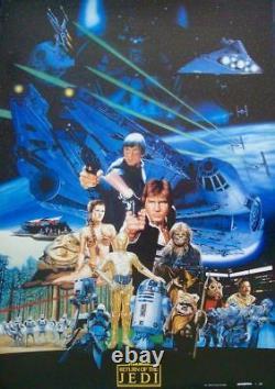 STAR WARS RETURN OF THE JEDI Japanese B2 movie poster YAMAKATSU style NM 1983