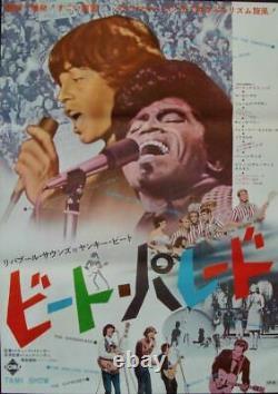 TAMI SHOW Japanese B2 movie poster BEACH BOYS ROLLING STONES JAMES BROWN RARE NM