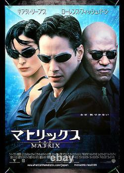 THE MATRIX CineMasterpieces JAPANESE SCI FI NEO TRINITY MORPHEUS MOVIE POSTER