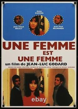UNE FEMME EST UNE FEMME A WOMAN IS A WOMAN Japanese B2 poster R97 GODARD KARINA