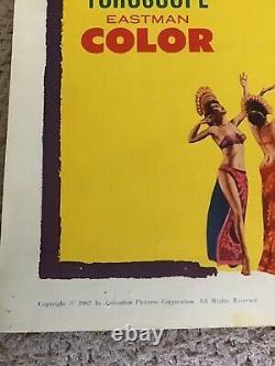 VINTAGE MOTHRA MOVIE POSTER 1962 MONSTER HORROR INSERT 14x36 ORIGINAL JAPANESE