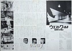 WESTWORLD Japanese B3 movie poster YUL BRYNNER 1973 Unique Art
