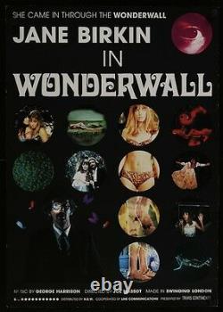 WONDERWALL Japanese B2 movie poster R96 GEORGE HARRISON JANE BIRKIN NM