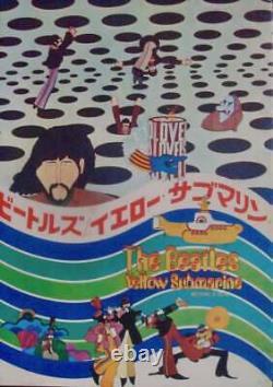 YELLOW SUBMARINE The BEATLES Japanese movie program A RARE 1968 Unique photos NM