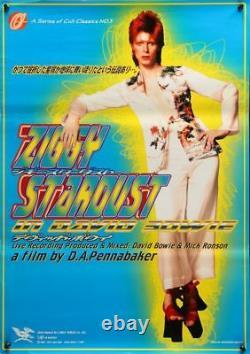 ZIGGY STARDUST Japanese B2 movie poster R1997 DAVID BOWIE MINT Unique Art